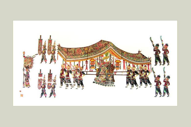 Monkey King's Tour of Inspection Qing dynasty, 125 x 67 cm