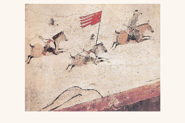 Polo Game - A mural of Tang Dynasty